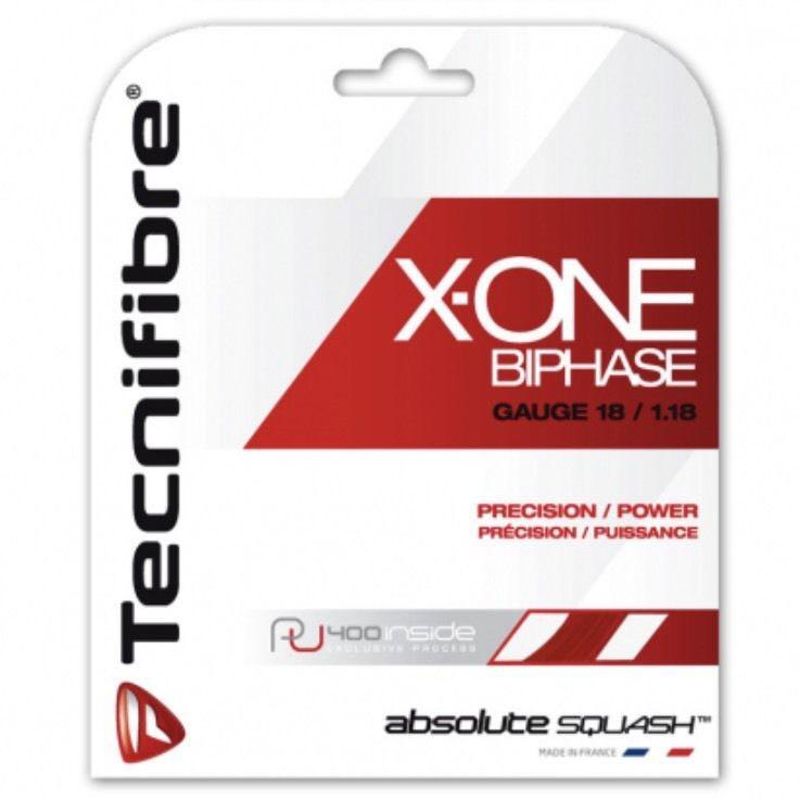 Tecnifibre  X-One BiPhase Squash String Set - 1.18mm